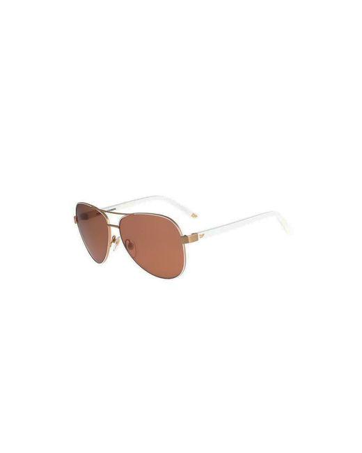Diane von Furstenberg | Metallic Brandy Mirrored Aviator Sunglasses | Lyst