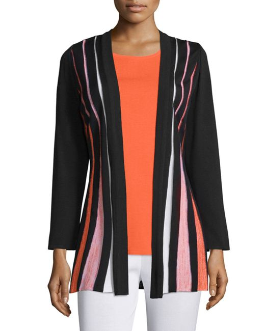 Ming Wang | Multicolor Pleated-Front Crepe Jacket | Lyst