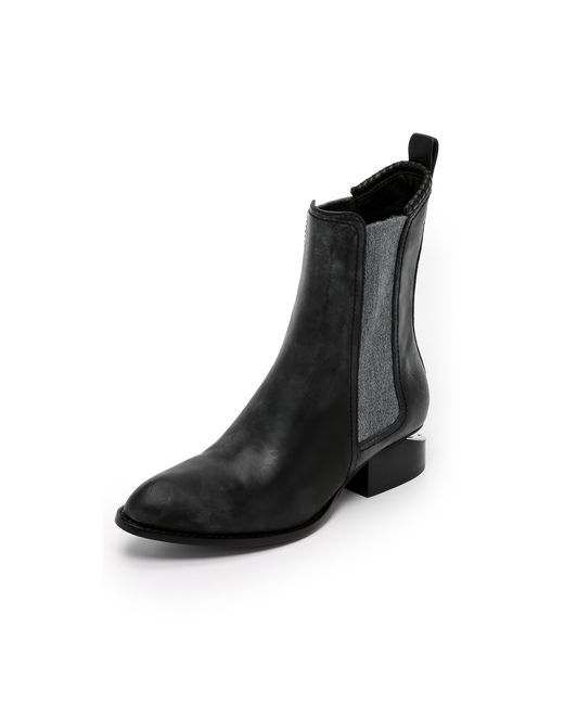 Alexander Wang | Black Anouck Leather Ankle Boots | Lyst