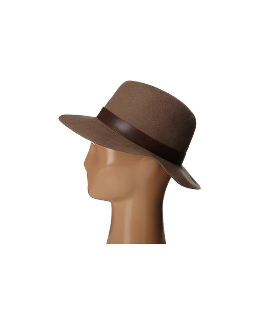 Hat Attack   Brown Wool Felt Original Medium Brim   Lyst