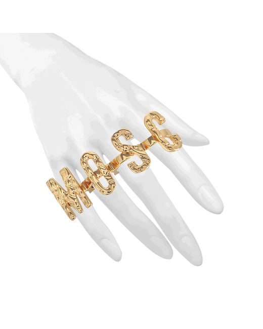 Moschino | Metallic Lettered Ring Set | Lyst