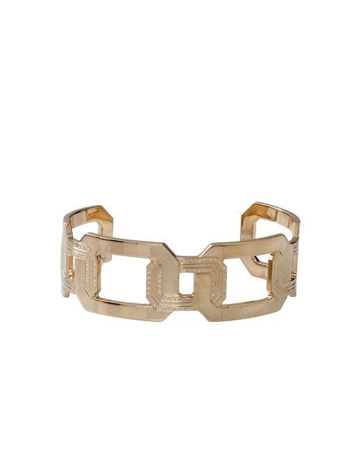 Rebecca   Metallic Elizabeth Square Cuff Bracelet   Lyst