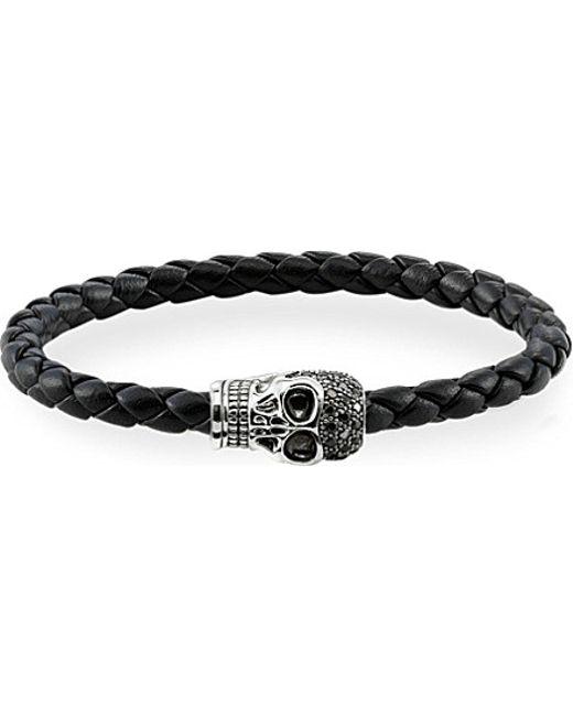 Thomas Sabo | Black Silver Skull Unity Bracelet | Lyst