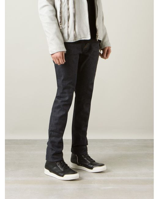 Saint Laurent   Blue Straight Leg Jeans for Men   Lyst