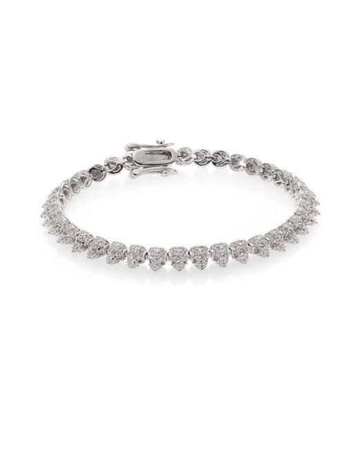 Eddie Borgo | Metallic Pave Crystal Mini Cone Bracelet/silvertone | Lyst