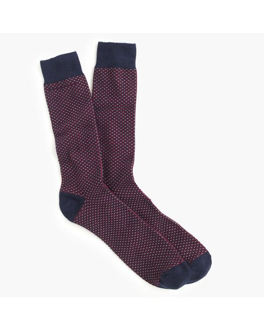 J.Crew | Blue Talon Stitch Socks for Men | Lyst