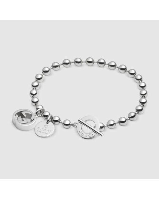 Gucci | Metallic Bracelet In Silver With Boule Chain | Lyst