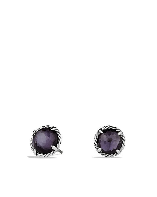 David Yurman | Chatelaine Earrings With Black Orchid | Lyst