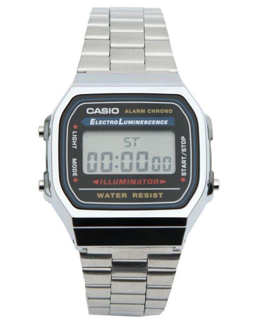 G-Shock | Metallic A168wa-1yes Digital Bracelet Watch - Silver for Men | Lyst