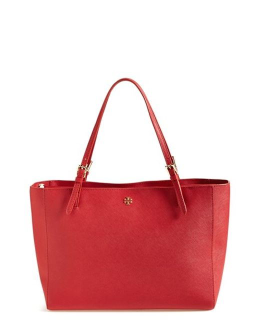 Tory Burch | Red 'york' Buckle Tote | Lyst