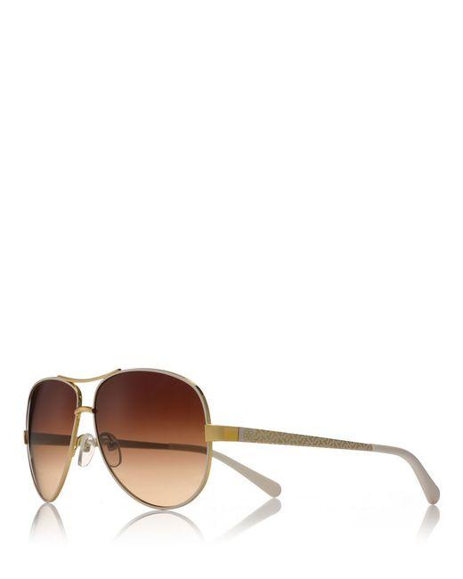 Tory Burch | Metallic T-print Aviator Sunglasses | Lyst