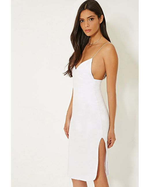 Forever 21 | White Mlm Cami Side Slit Dress | Lyst