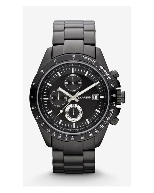 express chronograph black in black for pitch