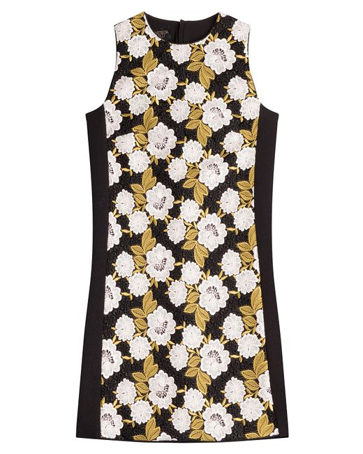 Giambattista Valli   Yellow Embroidered Shift Dress - Multicolor   Lyst