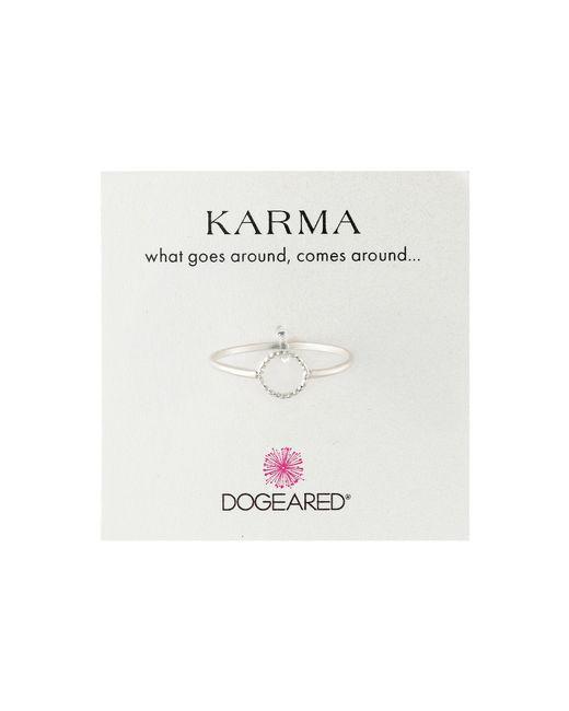 Dogeared | Metallic Tiny Sparkle Karma Circle Ring | Lyst