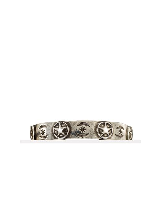 Pink Pony | Metallic Etched-star Cuff for Men | Lyst