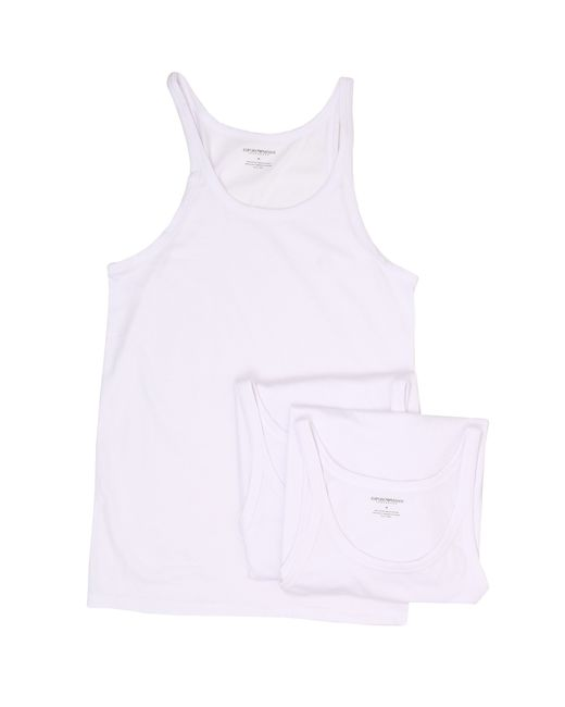 Emporio Armani | White 3-pack Cotton Tank Top for Men | Lyst