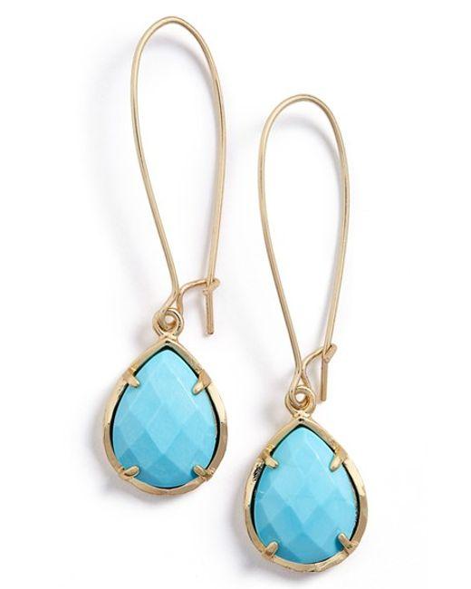 Kendra Scott | Blue 'dee' Teardrop Earrings | Lyst