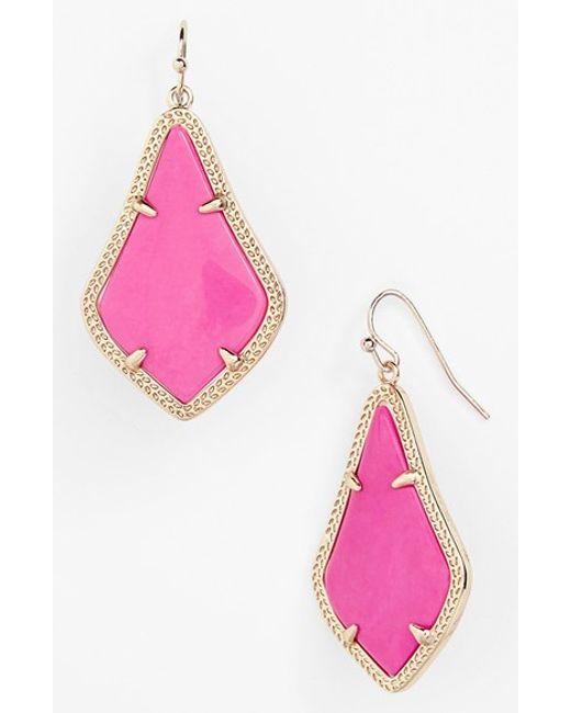 Kendra Scott | Purple Alex Drop Earrings | Lyst