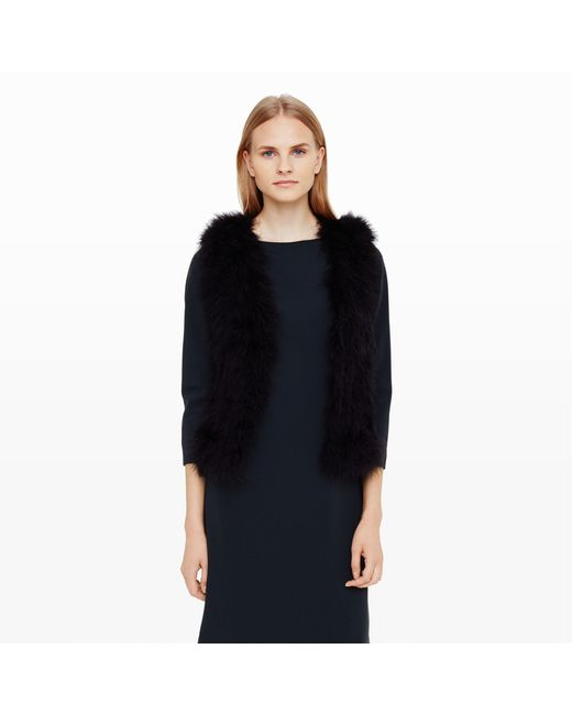 Club Monaco | Black Violet Feather Vest | Lyst
