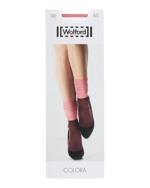 Wolford | Pink Colora Socks | Lyst