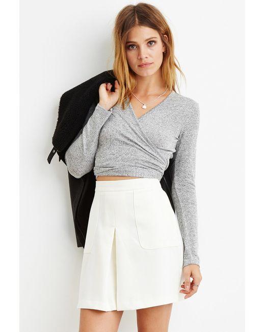 Forever 21 | White Contemporary Paneled Crepe Skirt | Lyst