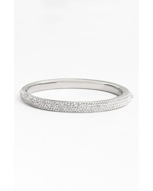 Nadri | Metallic Pave Crystal Bangle | Lyst