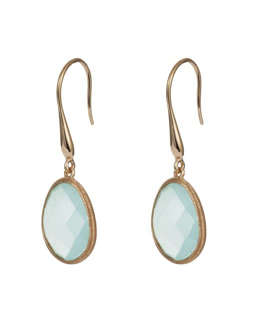 Caroline Creba | Blue 18ct Gold Plated Sterling Silver 9.52ct Aqua Chal | Lyst