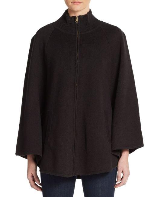 Saks Fifth Avenue   Black Zip-front Turtleneck Sweater   Lyst