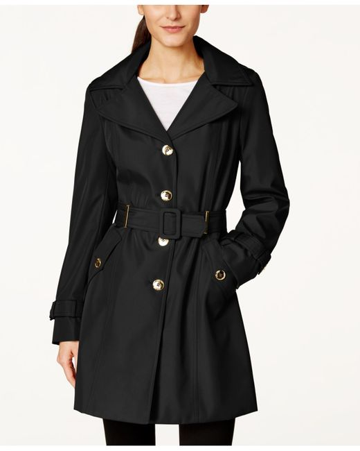 Calvin Klein | Black Hooded Single-breasted Trench Coat | Lyst
