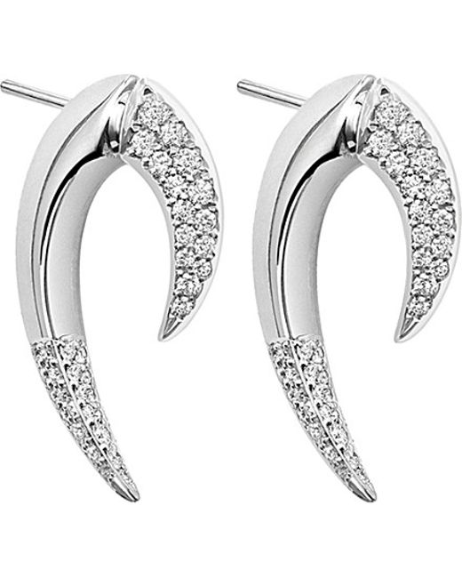 Shaun Leane | Metallic Signature 18ct White-gold And Diamond Talon Earrings | Lyst