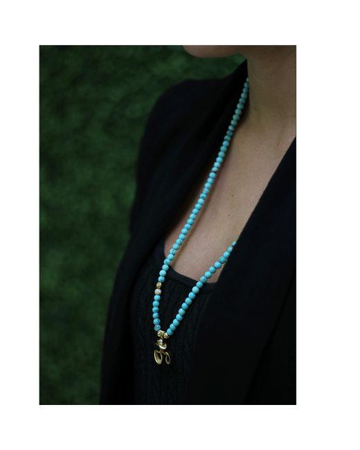 Shamballa Jewels   Blue Turquoise Ohm Necklace   Lyst