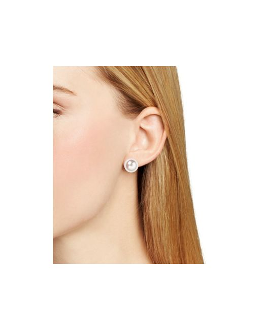 Majorica | White Simulated Pearl Stud Earrings, 12mm | Lyst