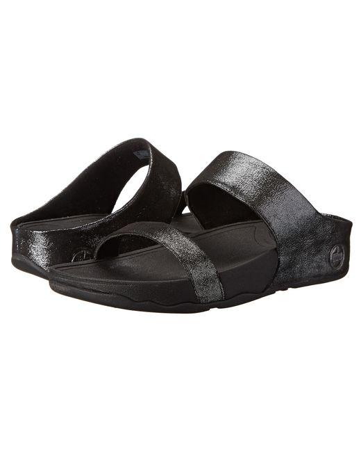 Fitflop   Black Lulu Shimmersuede Slide   Lyst