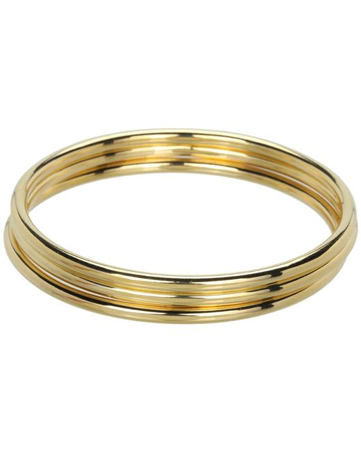 Lauren by Ralph Lauren | Metallic 3 Tube Bangle Set | Lyst