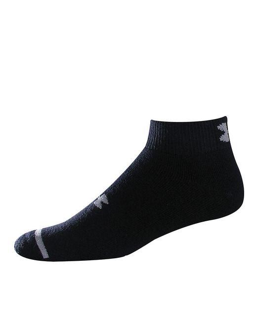 Under Armour | Black Quarter Socks, 6-pack for Men | Lyst