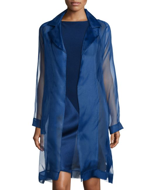 Shamask | Multicolor Organza Asymmetric Paneled Coat | Lyst