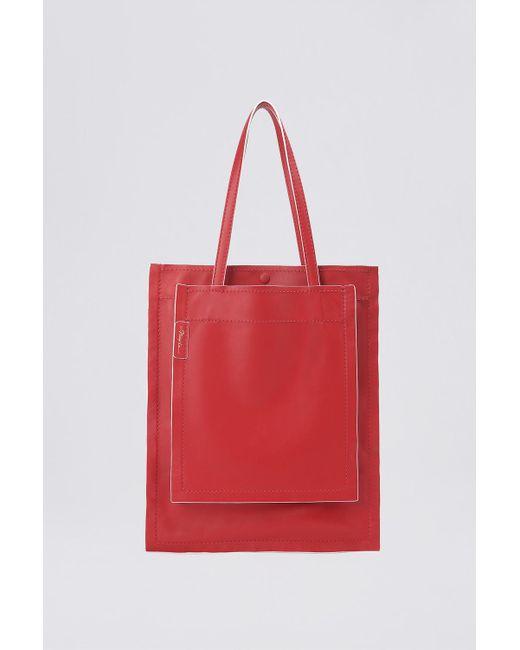 3.1 Phillip Lim - Red Scarlet Slim Accordion Tote Bag - Lyst