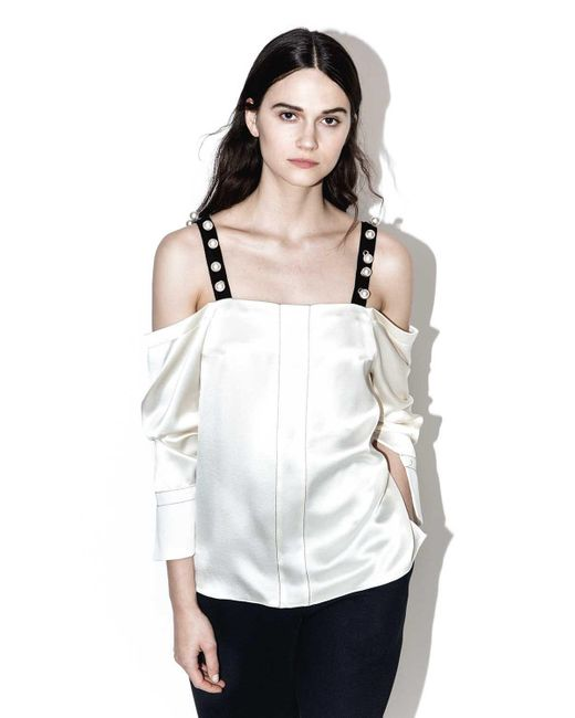 3.1 Phillip Lim | Multicolor Cold-shoulder Top | Lyst