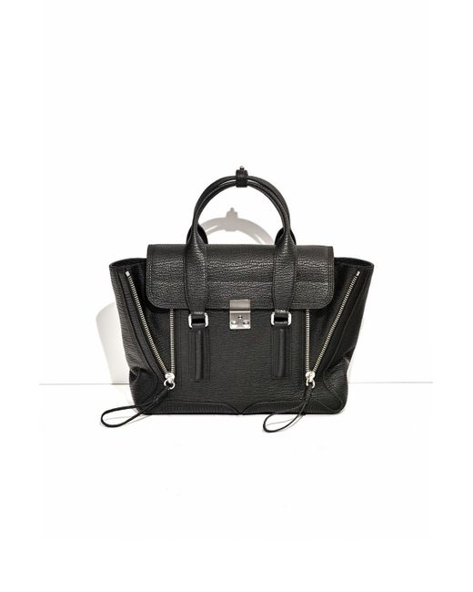 3.1 Phillip Lim - Black Pashli Medium Leather Satchel - Lyst
