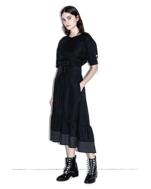 3.1 Phillip Lim - Black Corseted-waist Skirt - Lyst