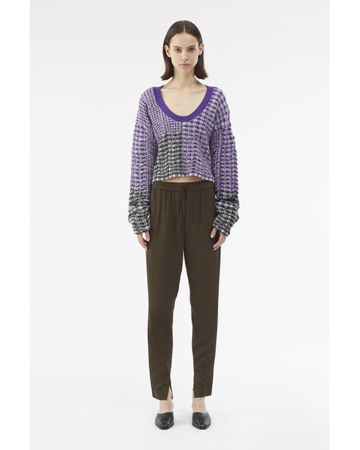 3.1 Phillip Lim - Purple Exclusive: Patchwork Pullover - Lyst