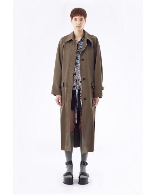 3.1 Phillip Lim Brown Oversized Trench Coat