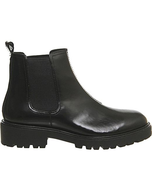 vagabond kenvova leather chelsea boots in black black box