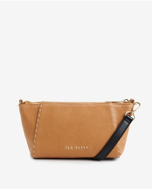 Ted Baker | Brown Leather Cross Body Bag | Lyst