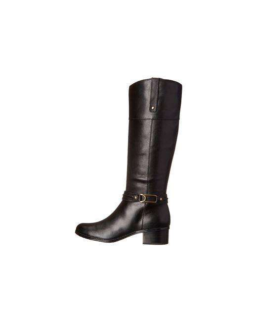 Bandolino | Black Wiser Wide Calf Women Round Toe Leather Knee High Boot | Lyst