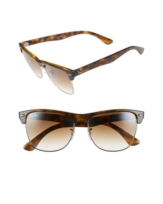 Ray-Ban | Brown 'clubmaster' 57mm Sunglasses for Men | Lyst