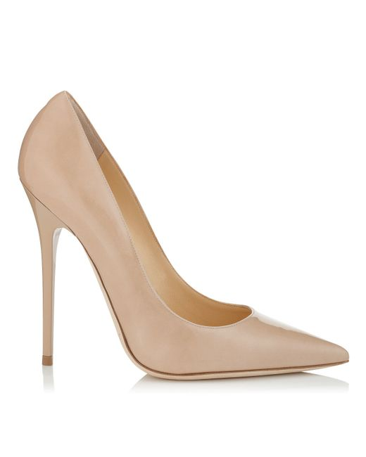 Jimmy Choo | Natural Anouk Nude Patent Pointy Toe Stiletto Pumps | Lyst