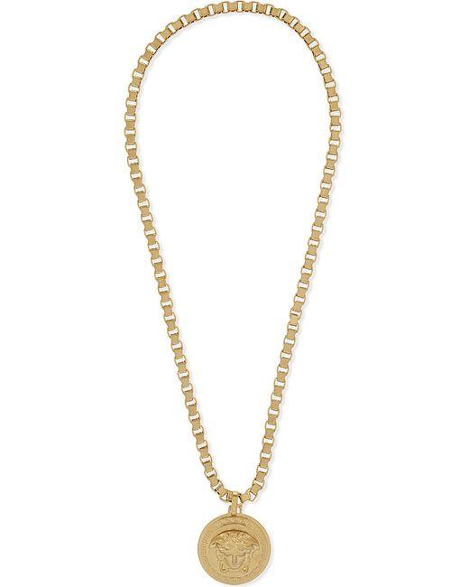 Versace | Metallic Medusa Pendant Necklace | Lyst