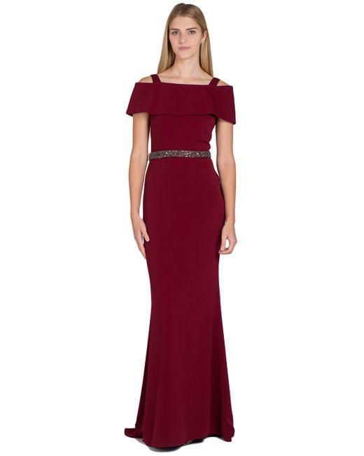 Badgley Mischka | Purple Odessa Off-shoulder Evening Gown | Lyst